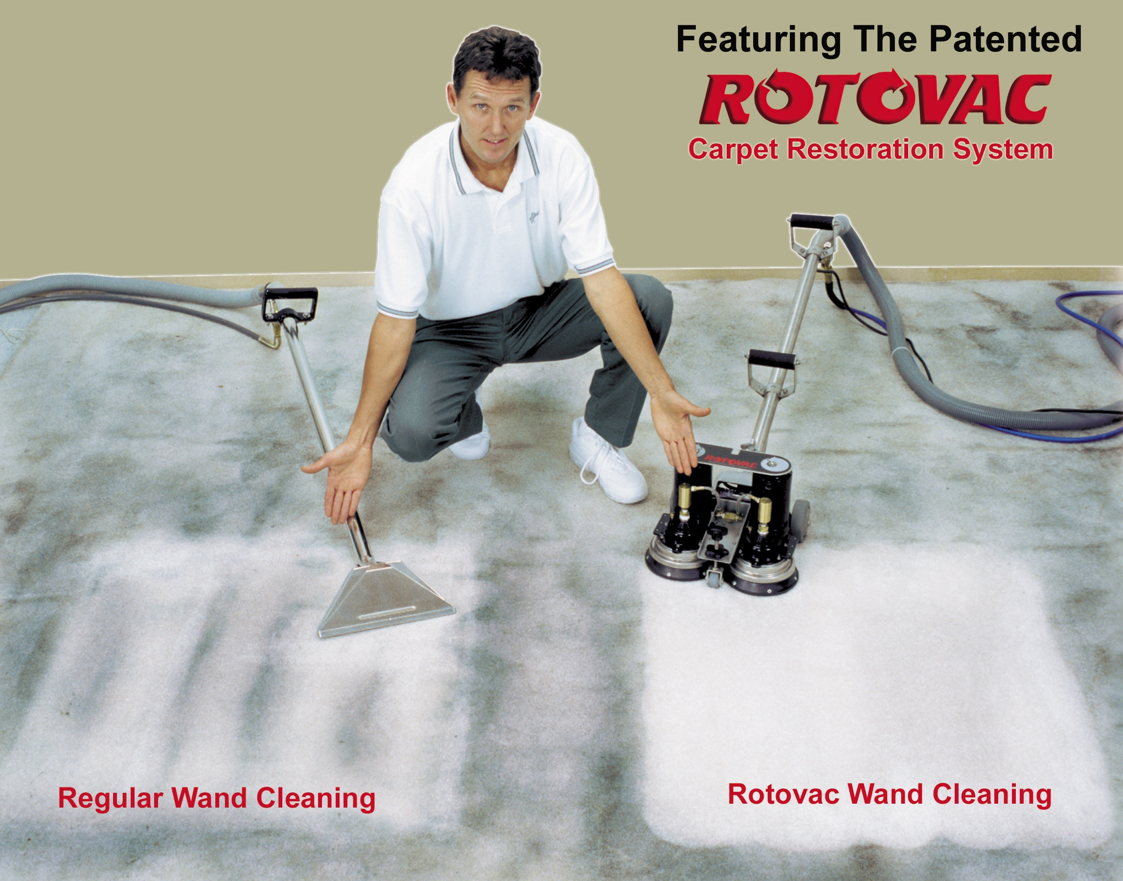 Rotovac Carpet Restoration System